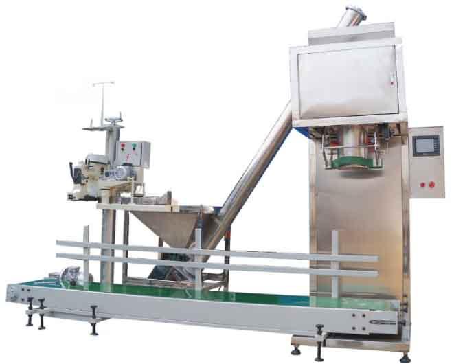 YX-DGS粉类大包装BOB(2-50公斤,主机,上料机,传输带,缝包机,控制器连网)