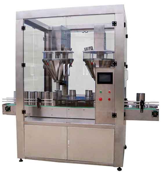 YX-FST高精度双头罐装机(奶粉在线称重高速BOB)