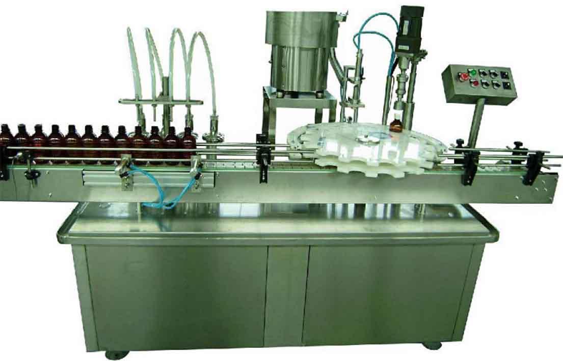 YX-GX-4Y灌瓶旋盖一体机(液晶触摸屏,自动灌装,自动上盖,自动旋盖)