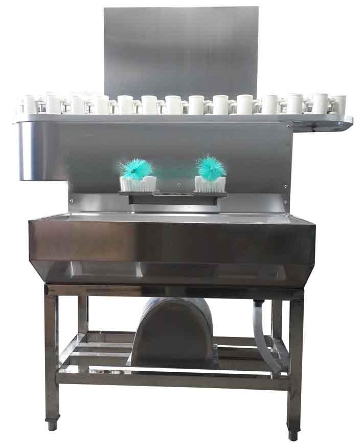 回转式电动冲刷瓶一体机(洗瓶机,刷瓶机),冲刷瓶一体机