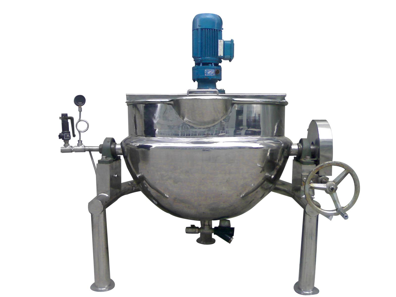 蒸汽(刮底搅拌式)可倾式夹层锅