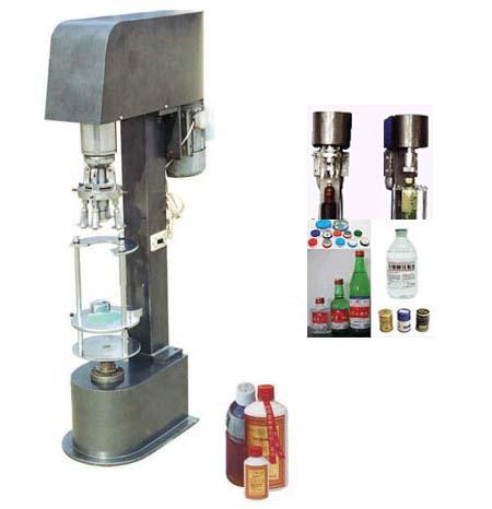JGS980多功能瓶盖锁口机,金属防盗盖锁口,塑料防盗盖锁口机,锁盖机